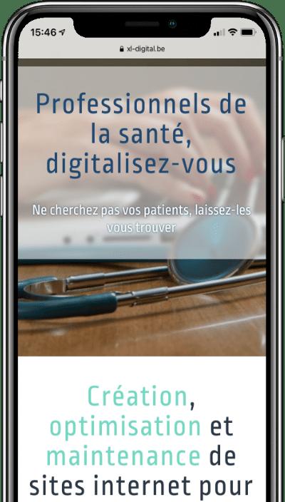 Site web XL Digital sur iphone